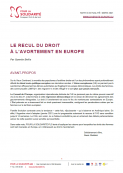 recul avortement europe